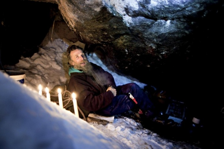 The Snow Cave Man in cave